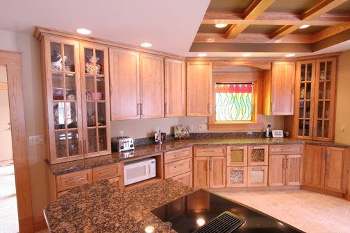 cabinets with wine rack